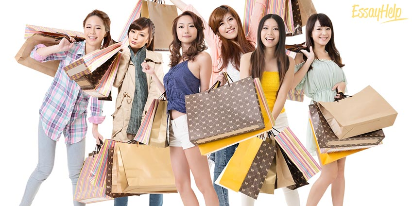 Chinese Girl on Shopping