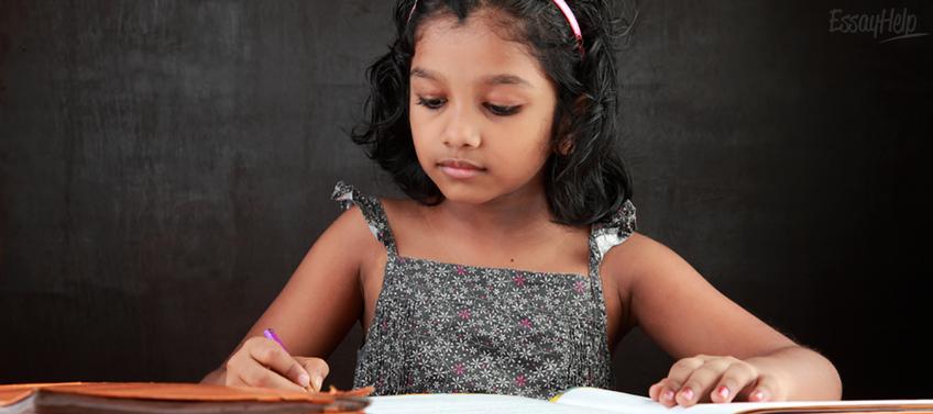 Kid Does Homework