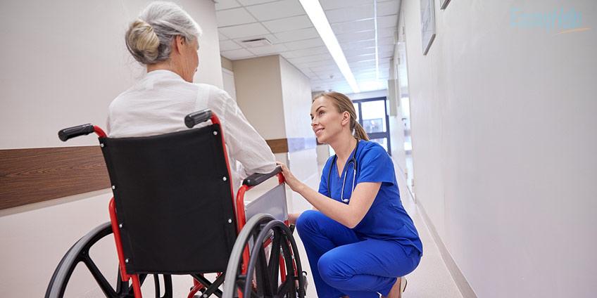 Nurse Helping Diseased