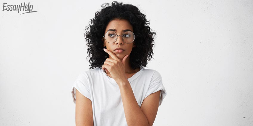 Pensive Girl Glasses